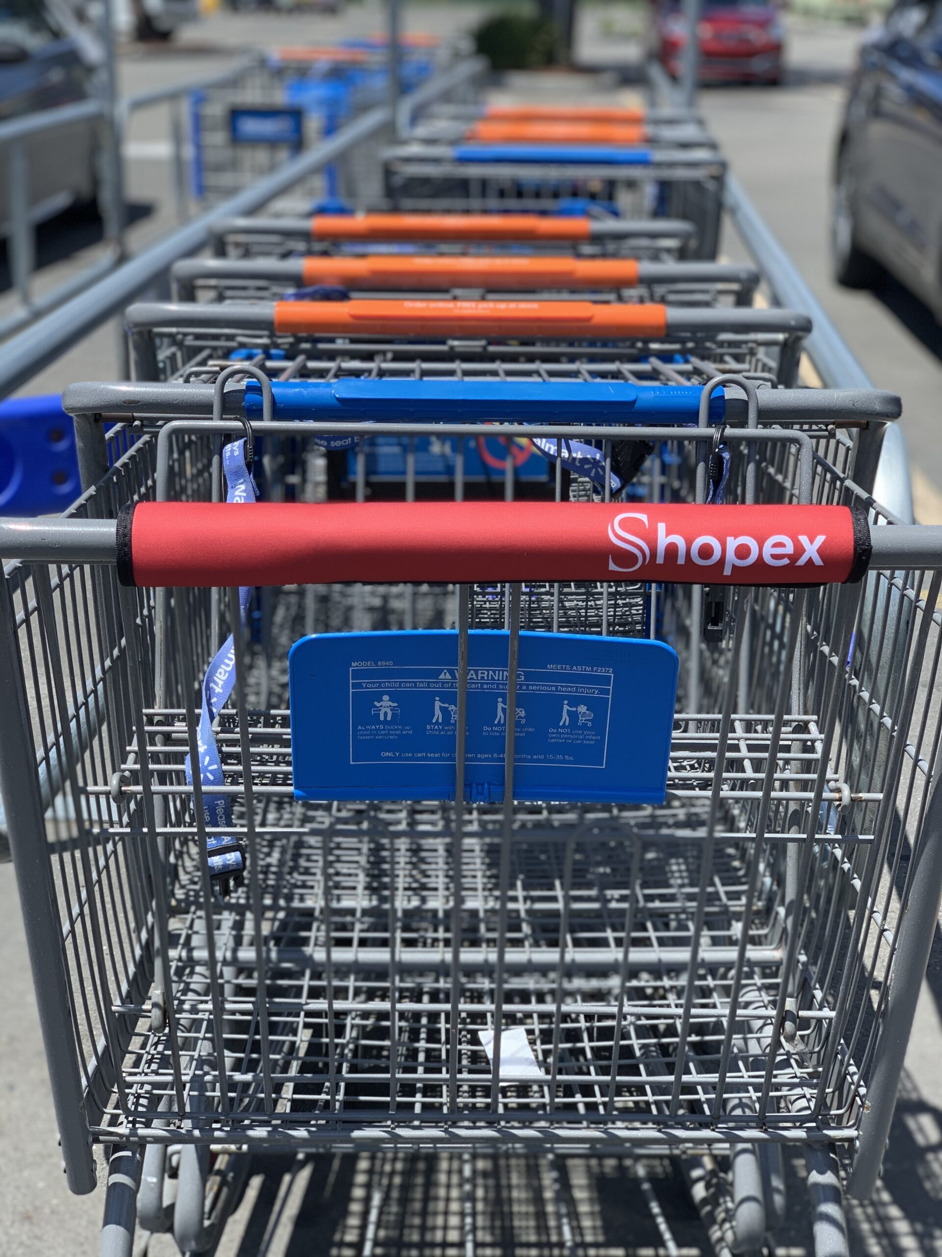 Shop Guard Shopping Cart Handle Cover Set of 2 Handle Wraps//Grip
